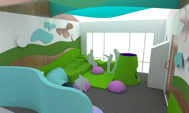 design healthcare interior and play area for young