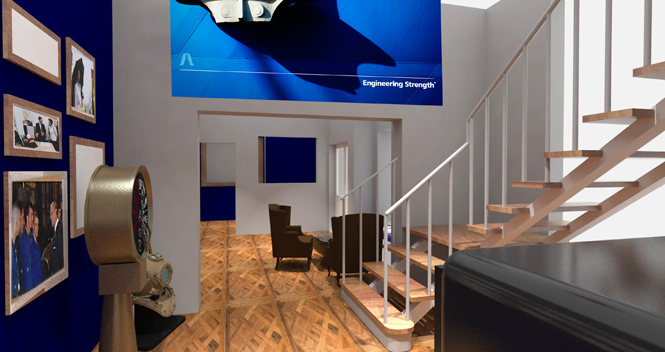 office interior design cornwall at A&P office in Cornwall by Boex
