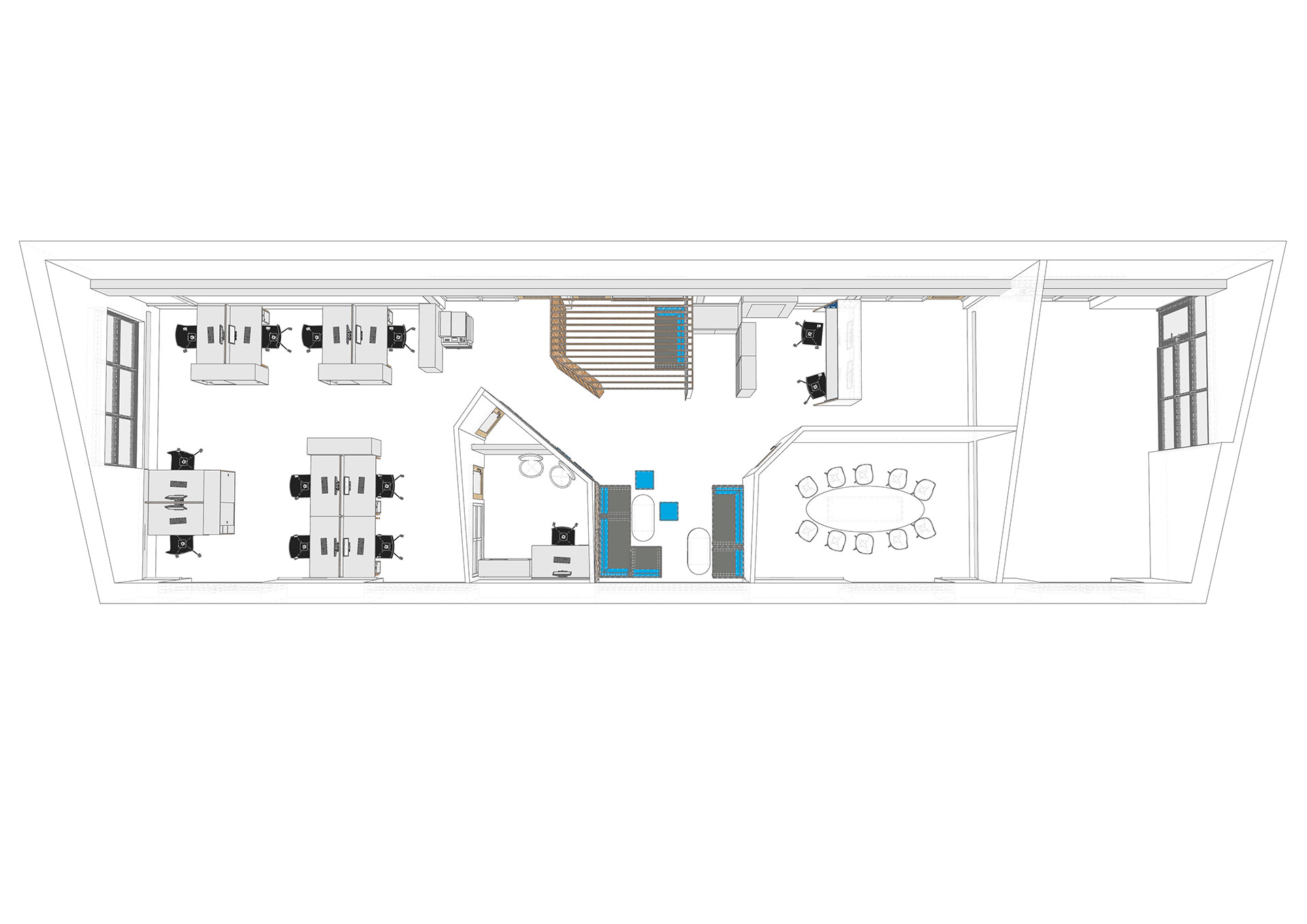 Space planning for Wave Hub Ltd office
