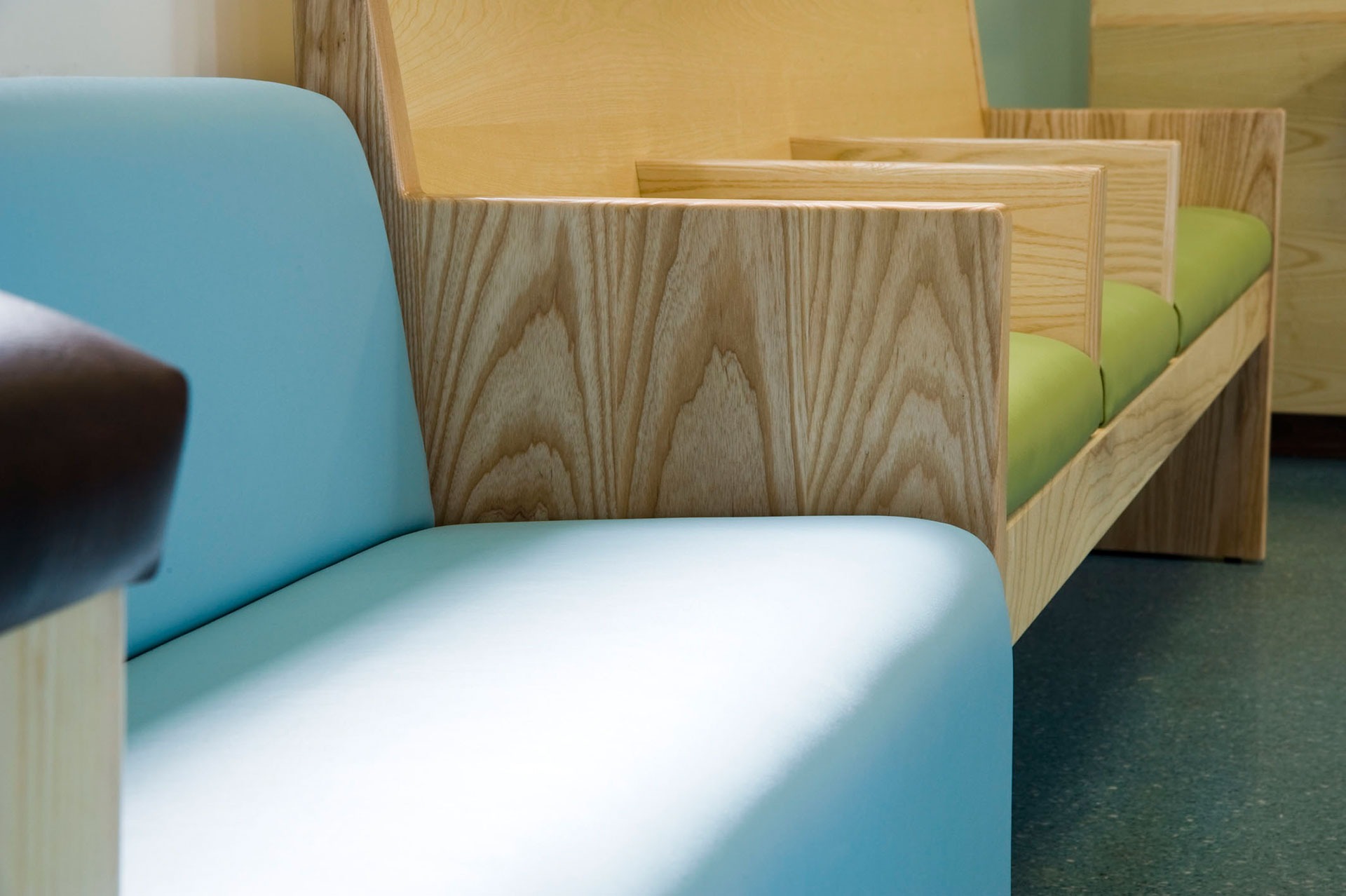 Informal seating detail designed by Boex