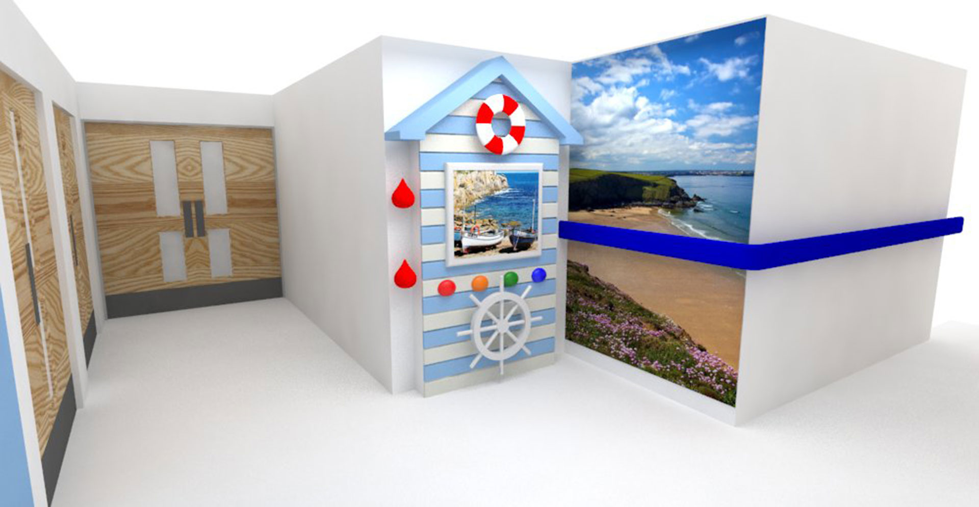 Interactive Beach Hut for patients at Dementia Ward