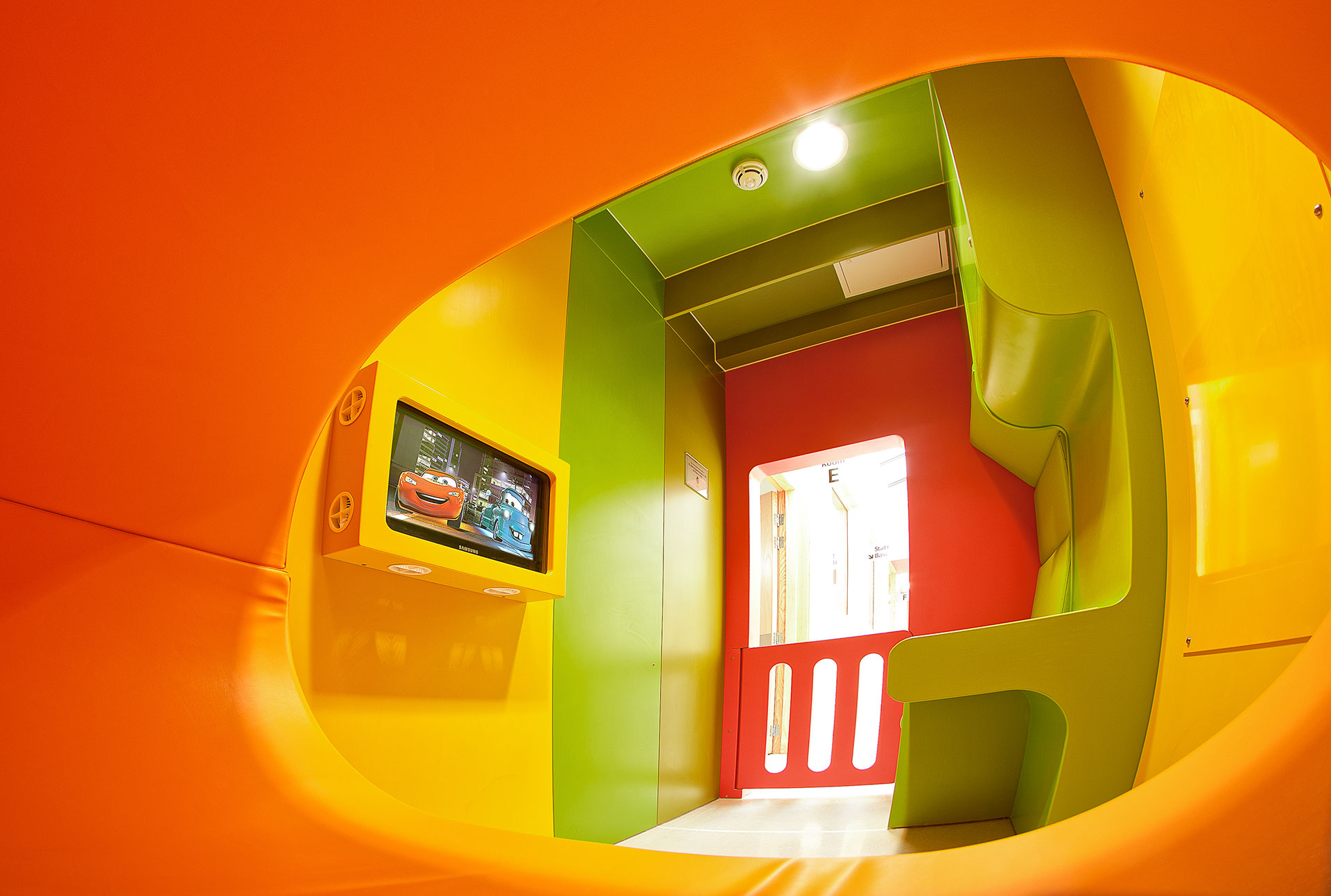 Interactive hospital play room for children at NHS neonatal unit