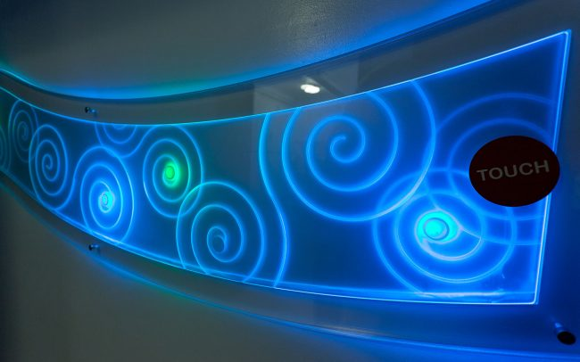 LED touch sensitive interactive in Sensory room