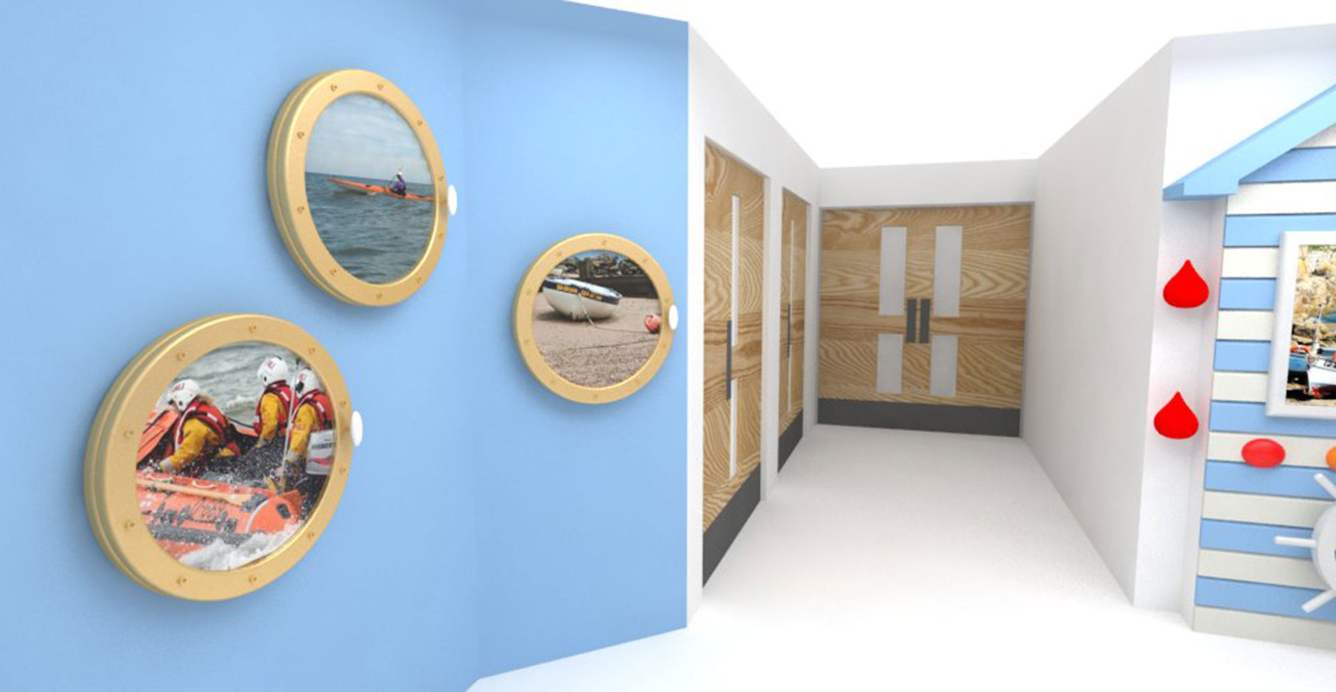 Porthole Visual stimuli where there are no windows for Dementia patients