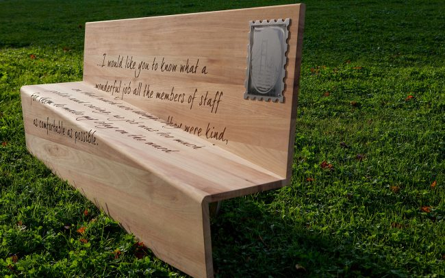 Practical Outdoor bench designed for NHS