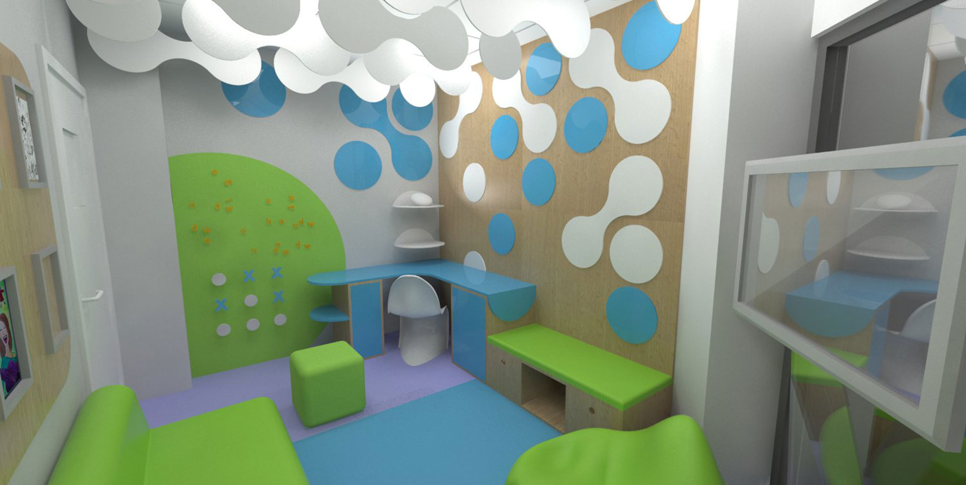 Teen Hub visualisation for Addenbrookes Paediatric Day Unit