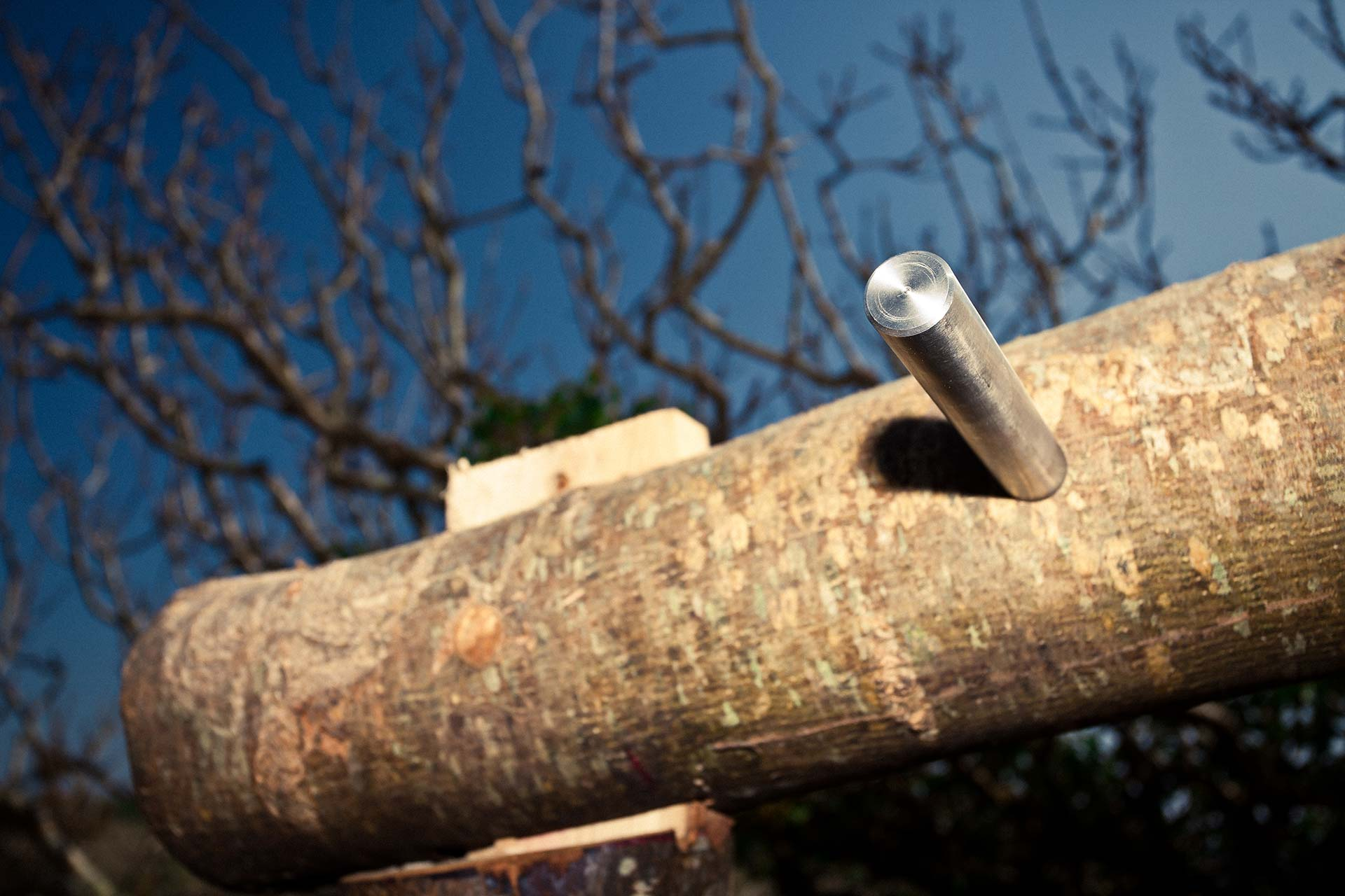 Timber joint detail within Outdoor Gym designed for National Trust