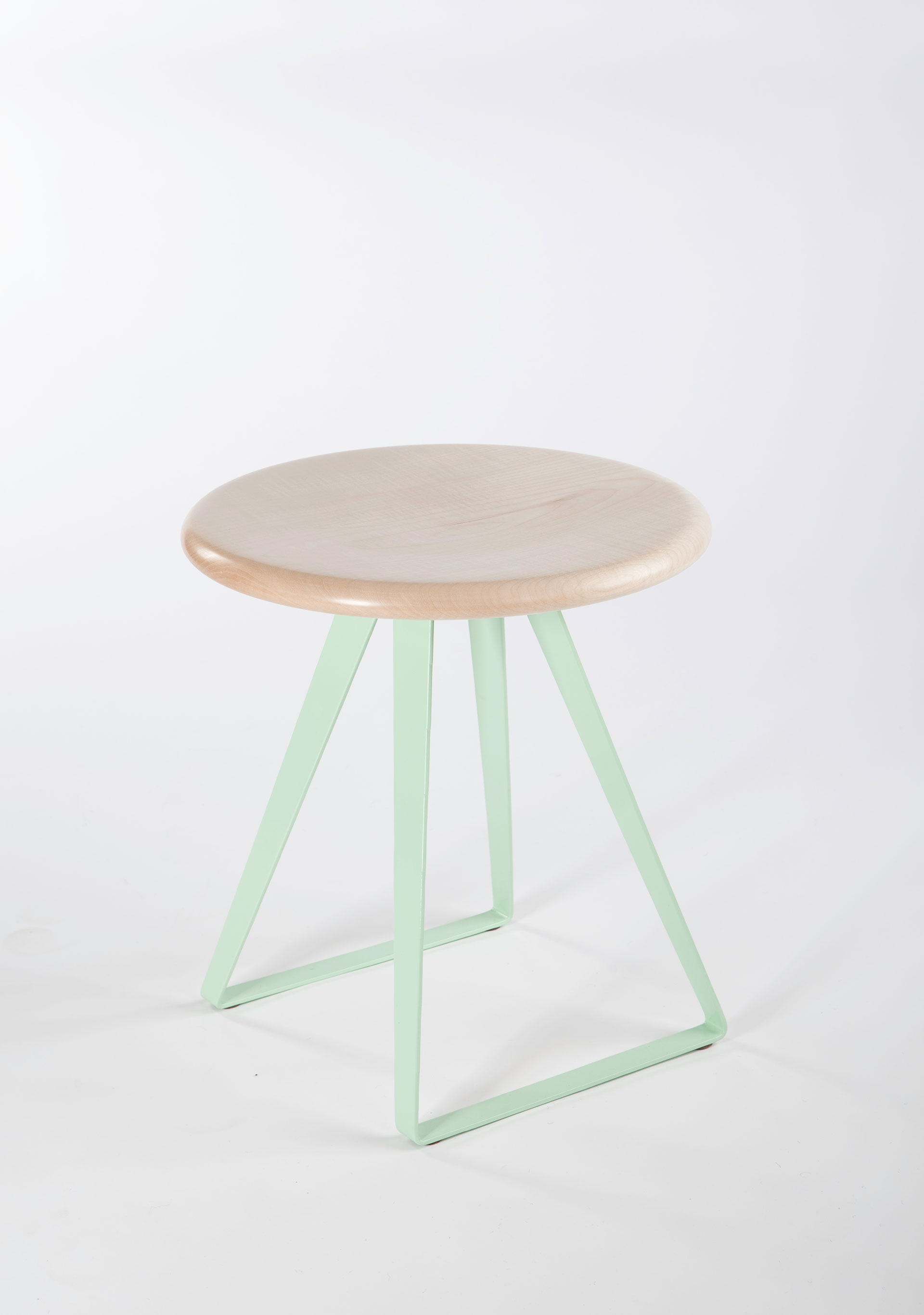 Duck egg steel leg stool