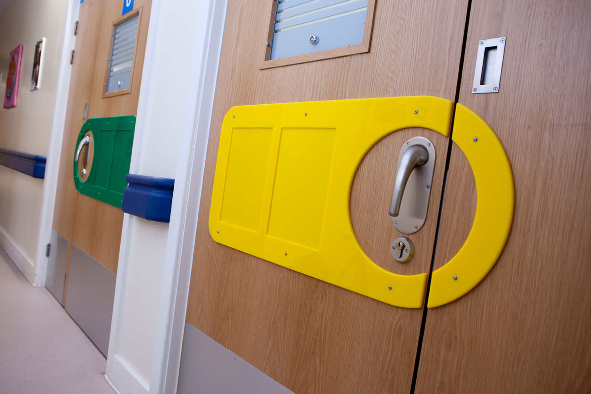 Colourful wayfinding sign to help patients with limited memory designed by Boex