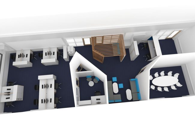Office plan interior design