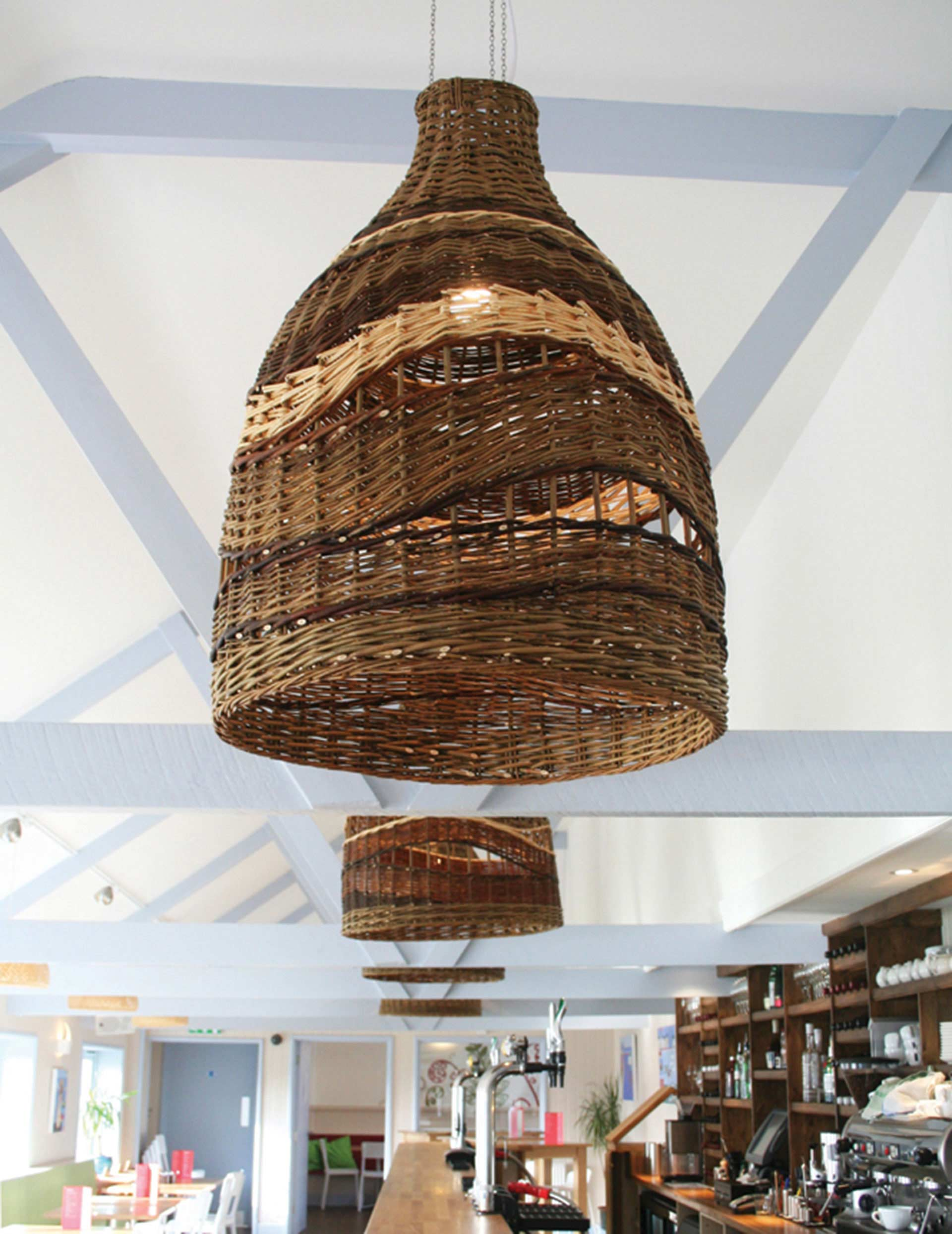 Wicker wave light shade boex product