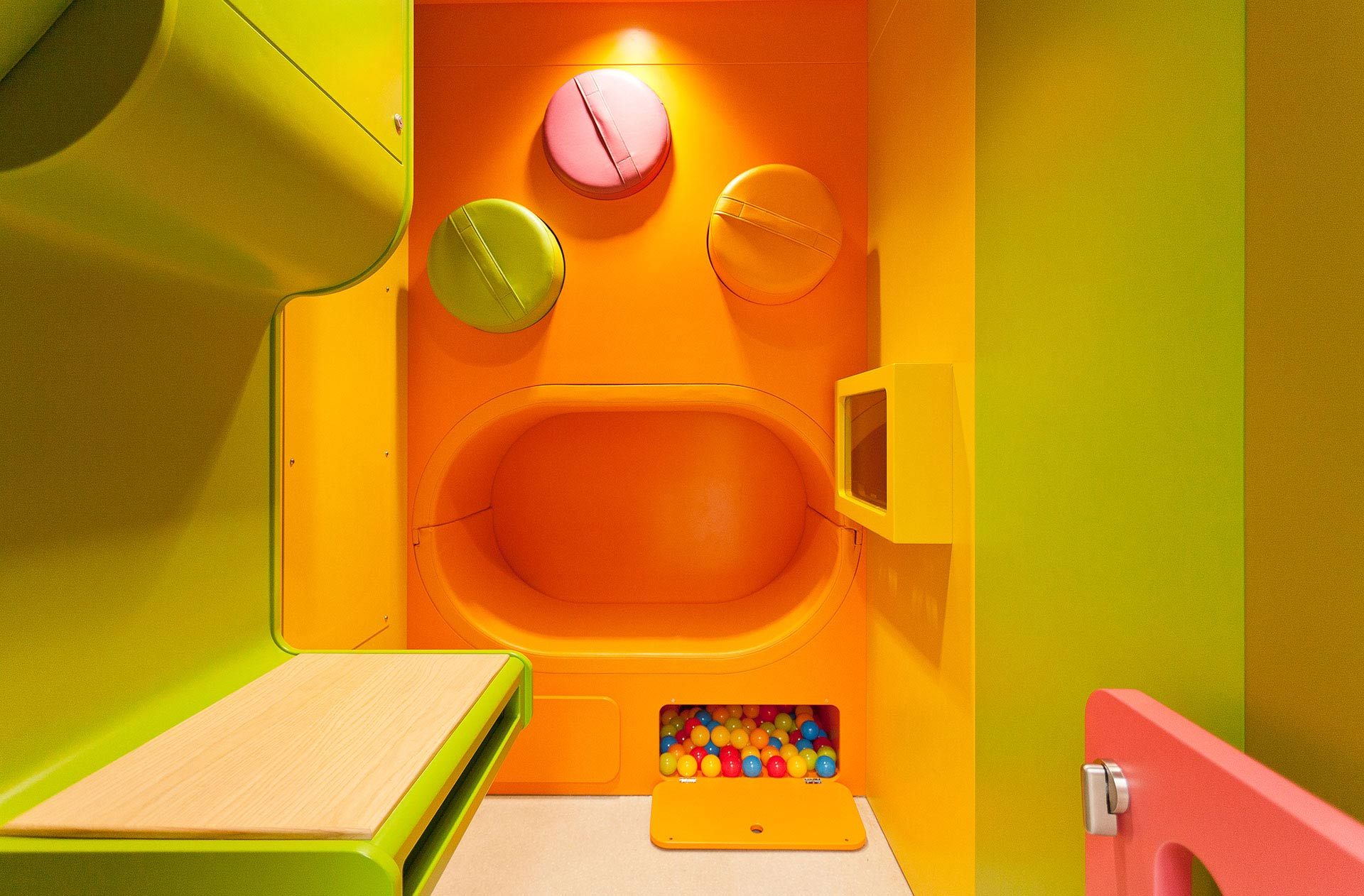 Smooth edges to allow safe play for children at Royal United Hospitals Bath