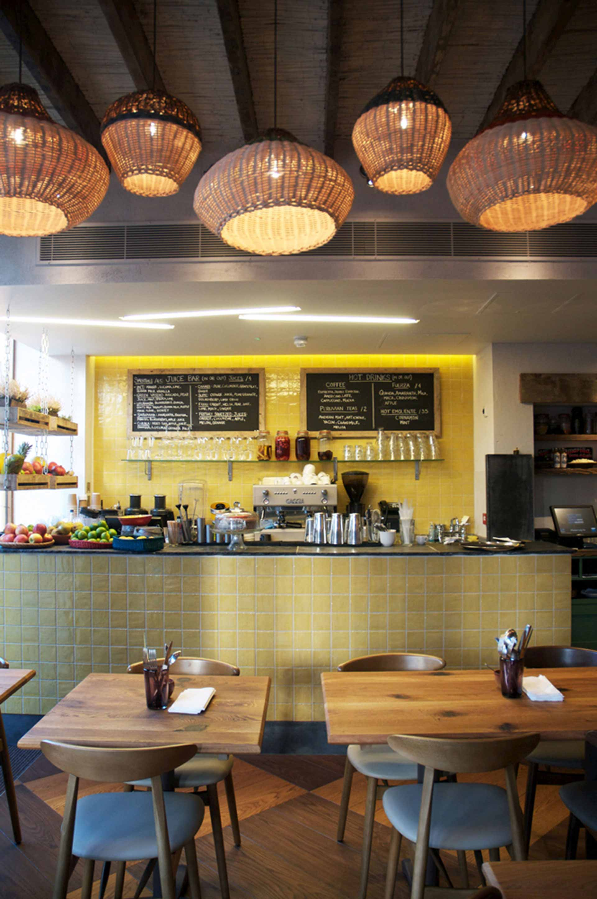 Cove pendant lights installed in Cafe