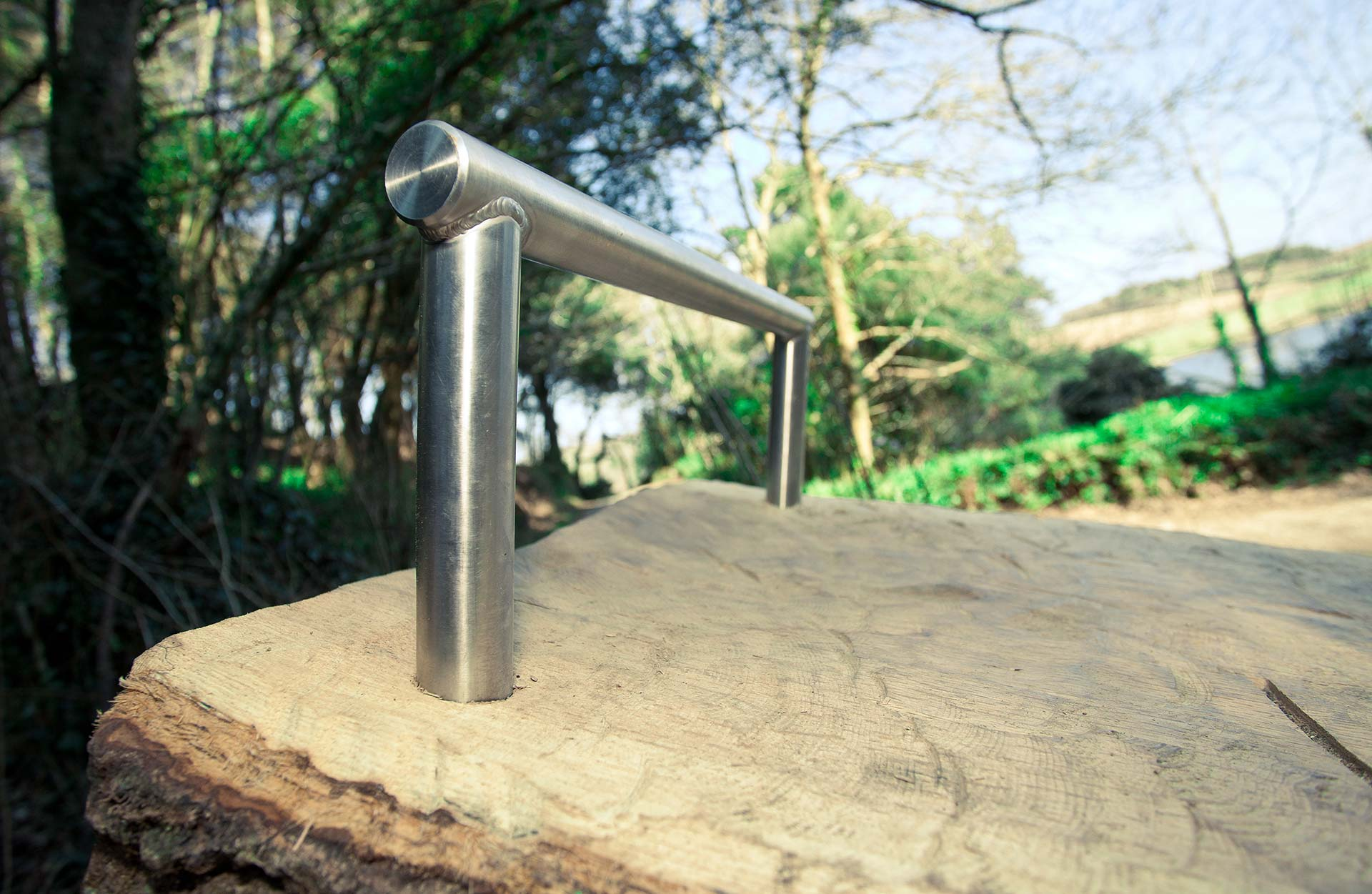 Metal fixtures kept to a minimum within the outdoor gym for National Trust