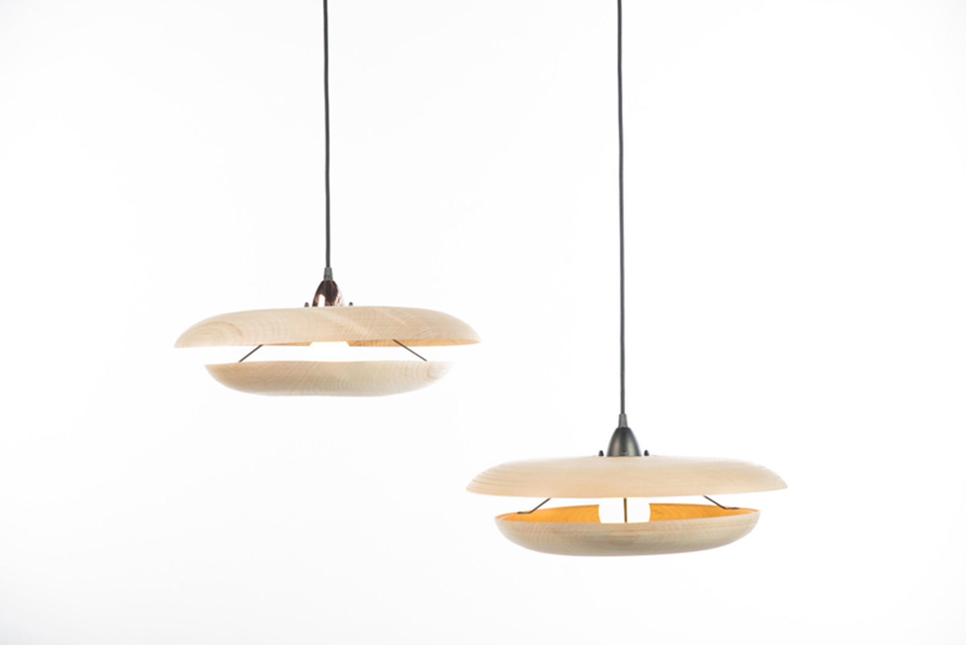 Boex pendant lights side on view