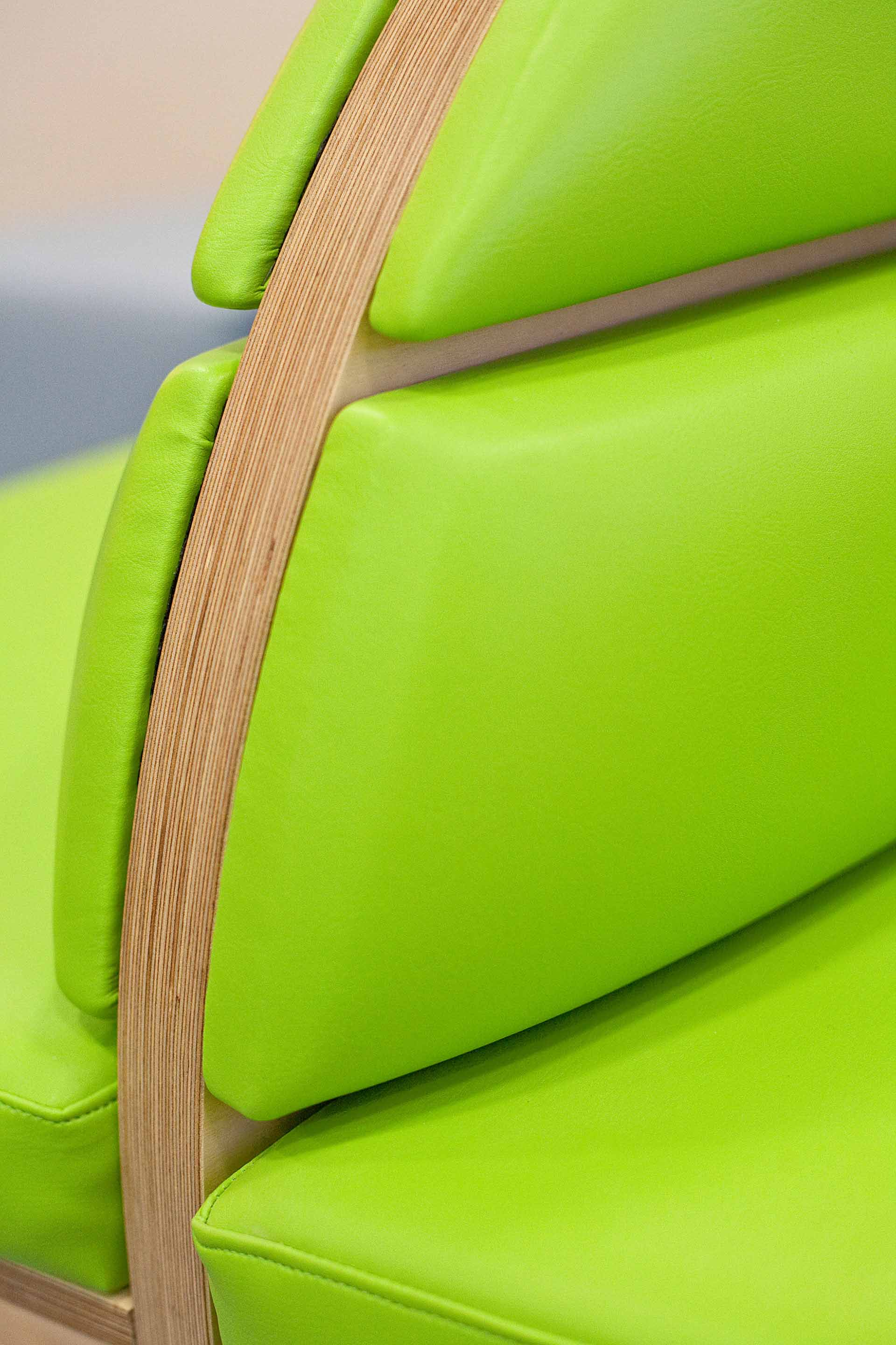 Infection control upholstery for bespoke joinery at Salisbury District Hospital