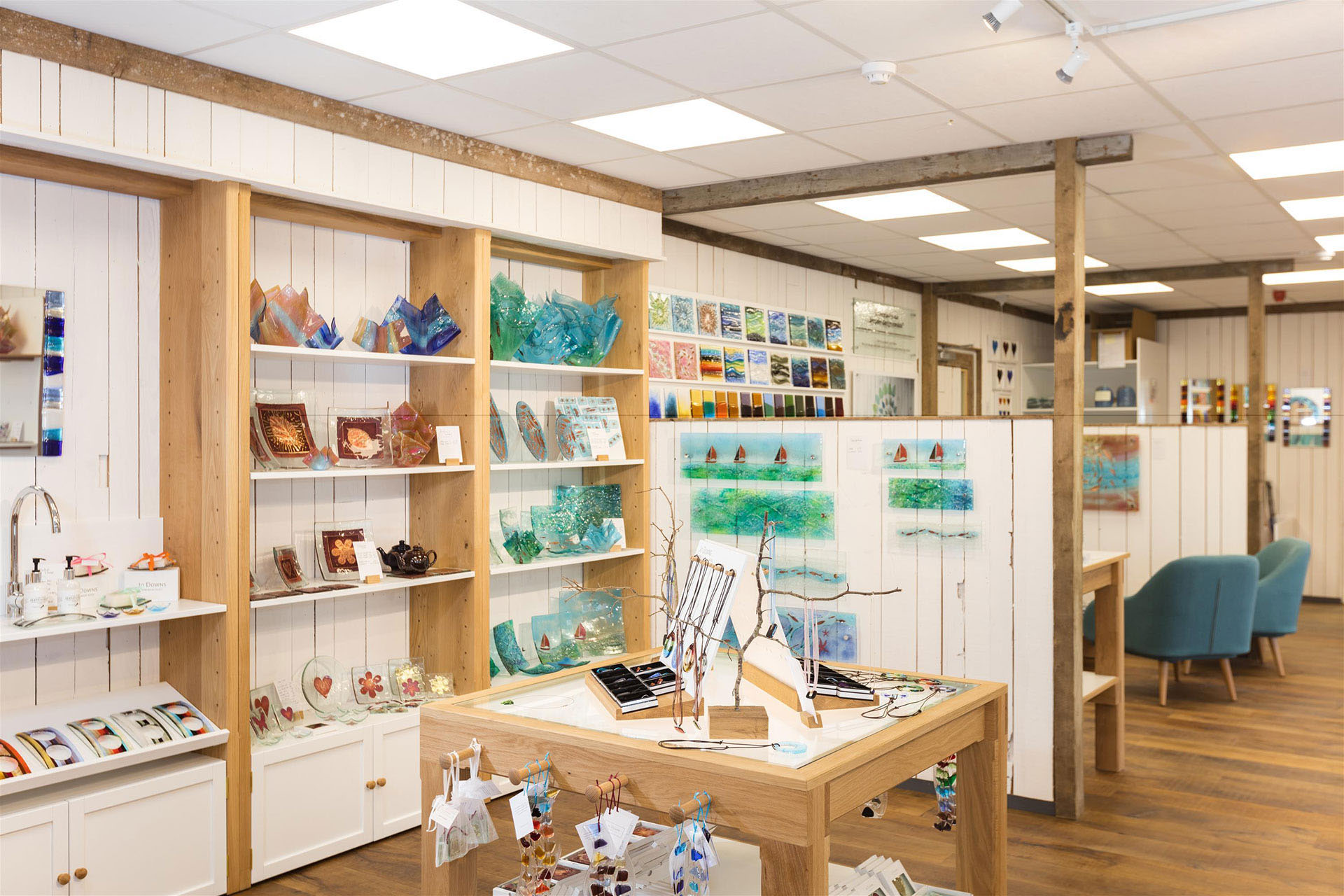 Timber display units designed for Jo Down's Store