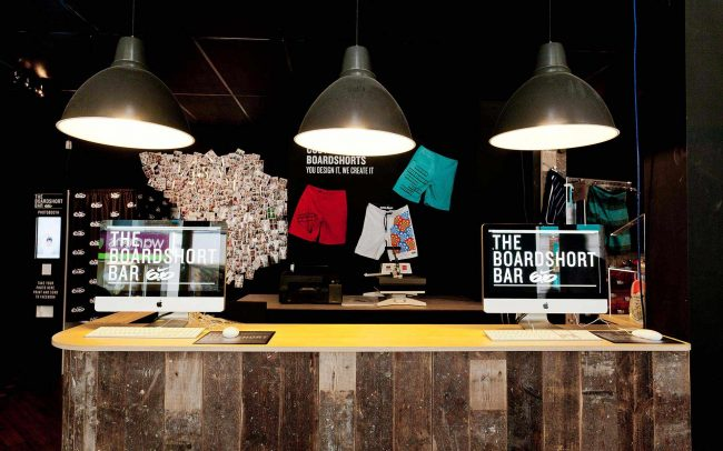 Focused lighting at Nike pop-up store