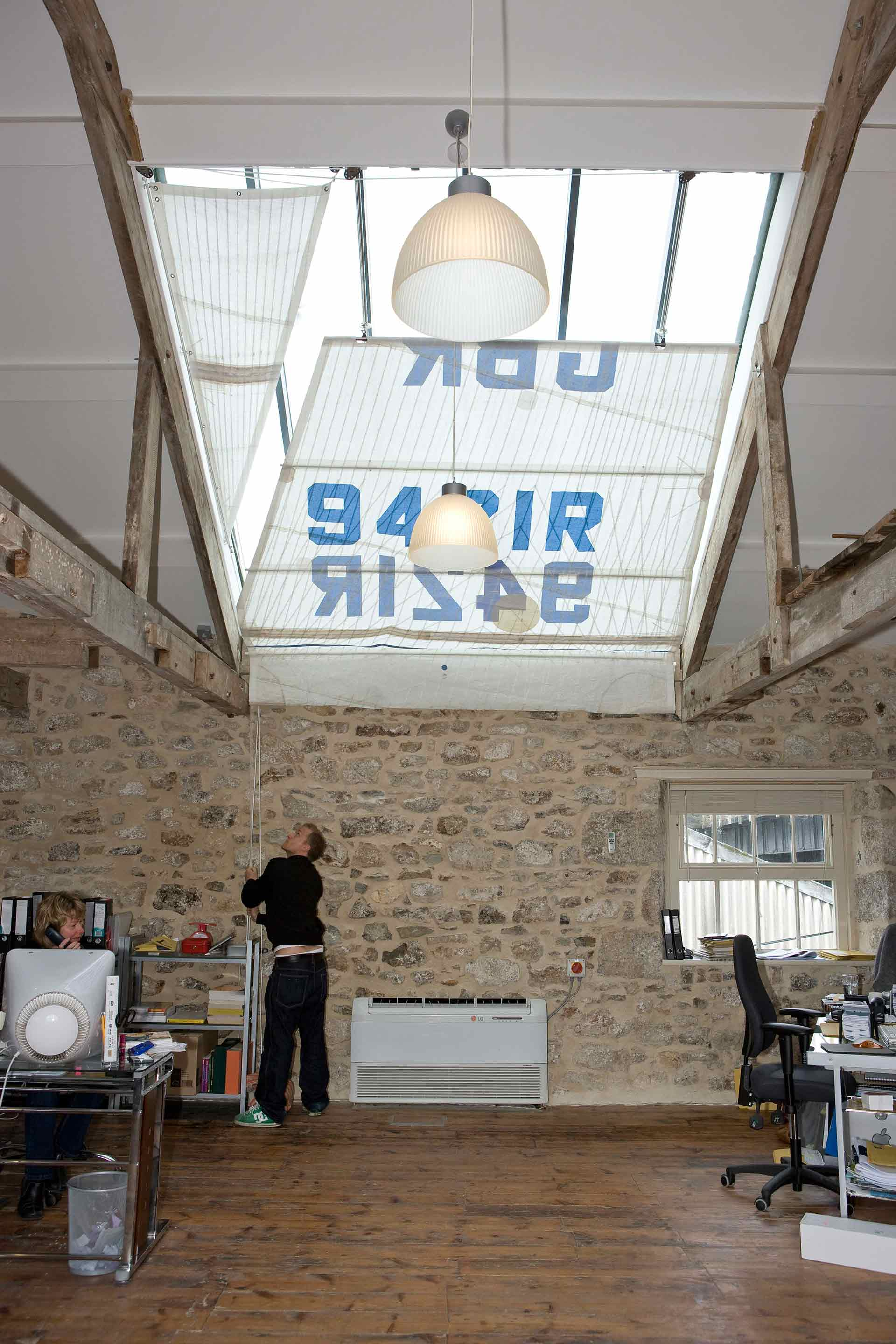Sail numbers add character to bespoke blind at Nixon offices