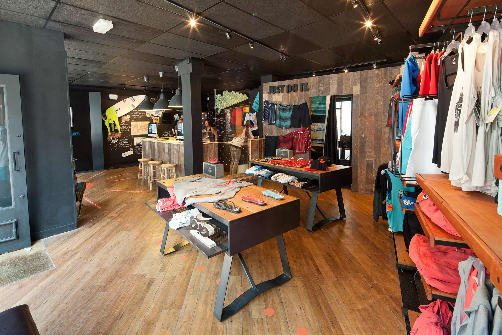 custom designs printed onto short via the instore software at Nike pop-up store