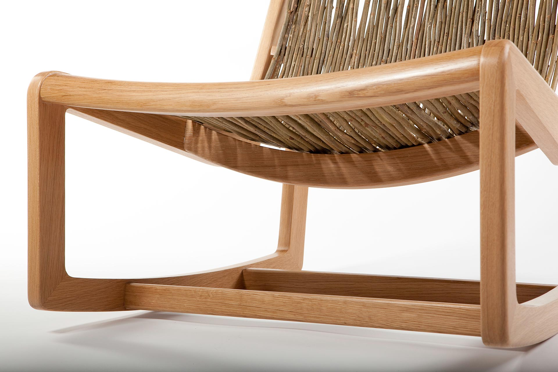 Detail of easy willow rocking chair