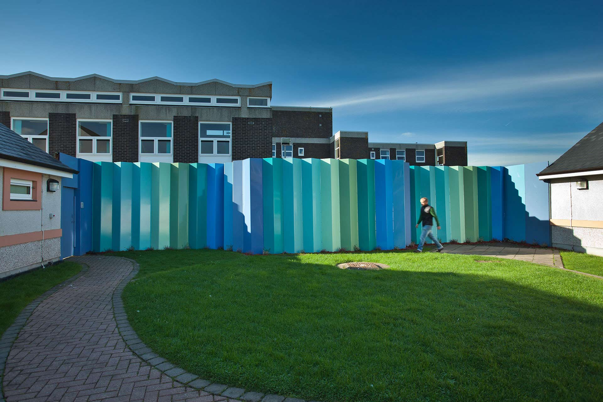 NHS mental health fence provides an acoustic baffle