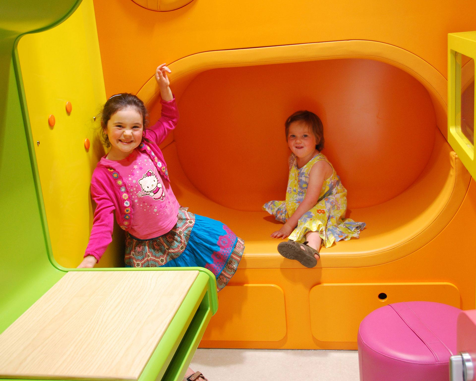 Appropriate materials used to ensure safe play for children at NHS hopsital