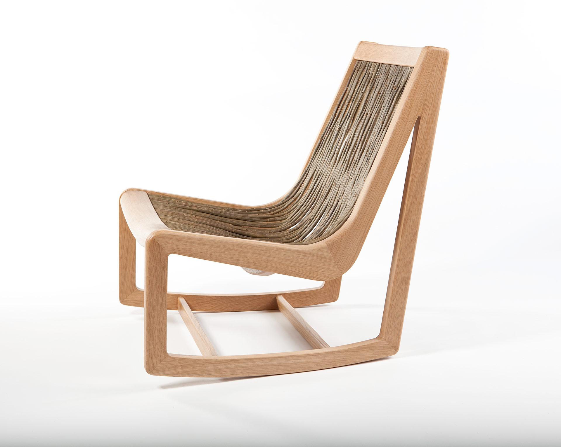 Easy willow chair side on view