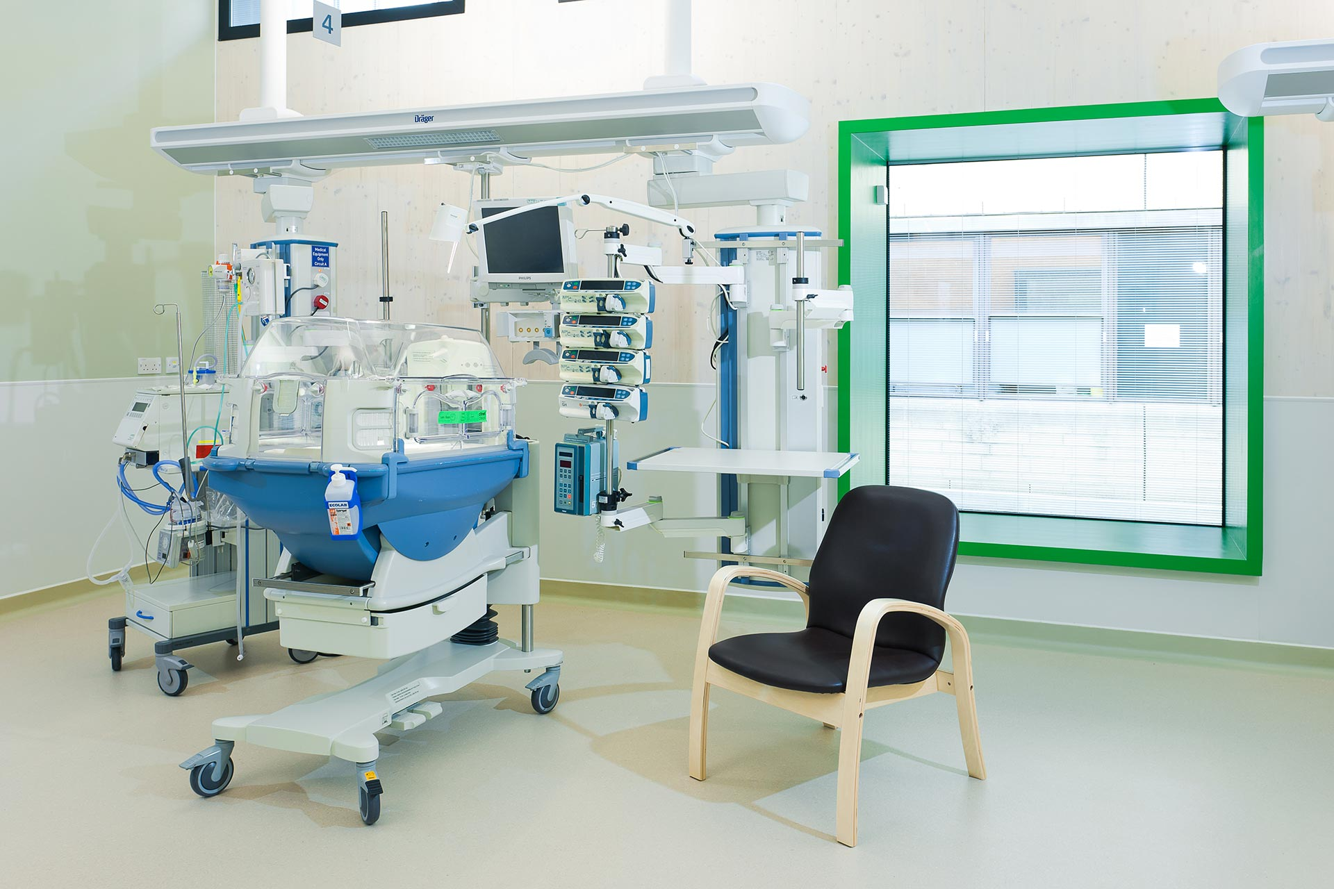 Colourful window frames to make clinical environment more welcoming