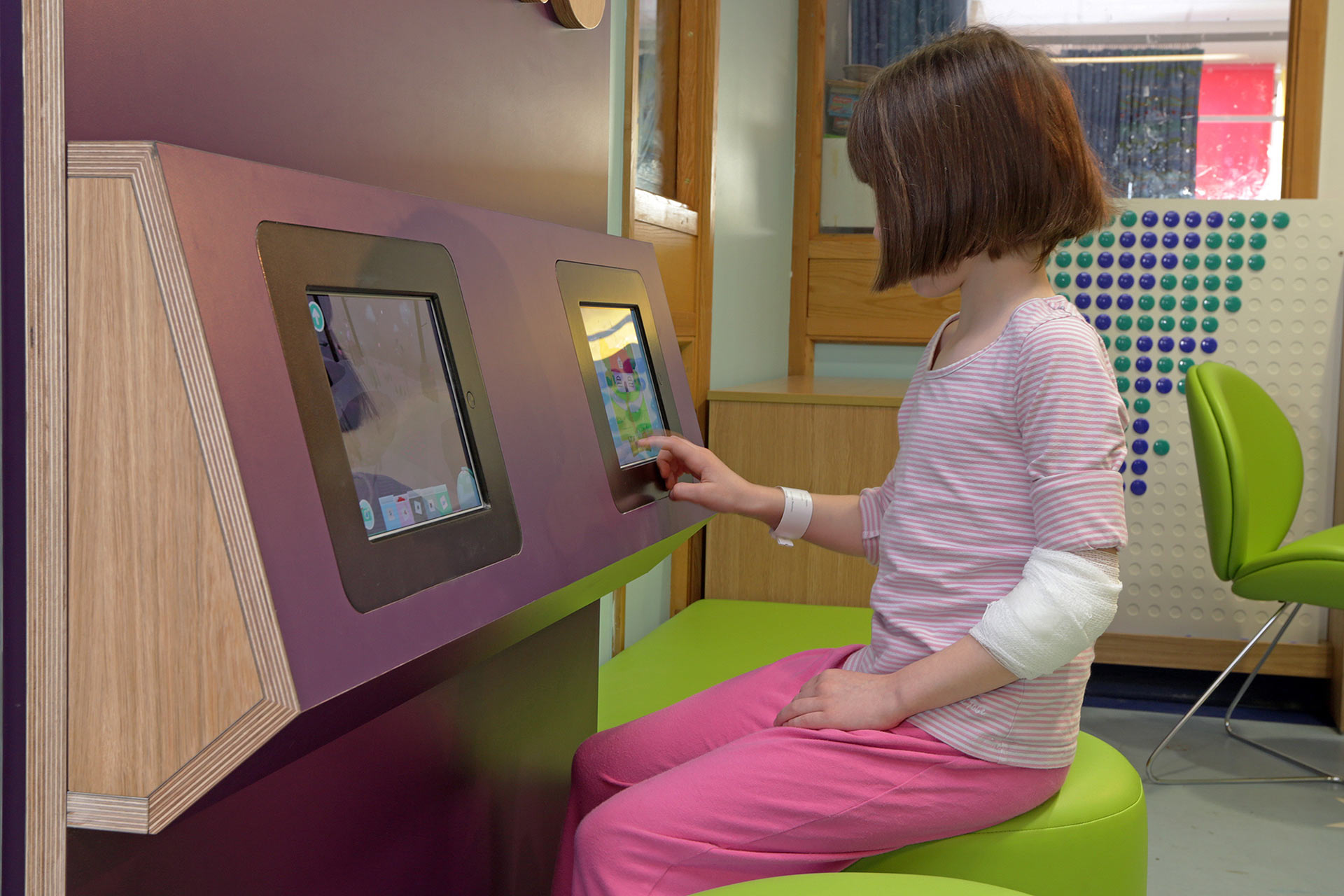 touch sensitive interactives to comply with infection control