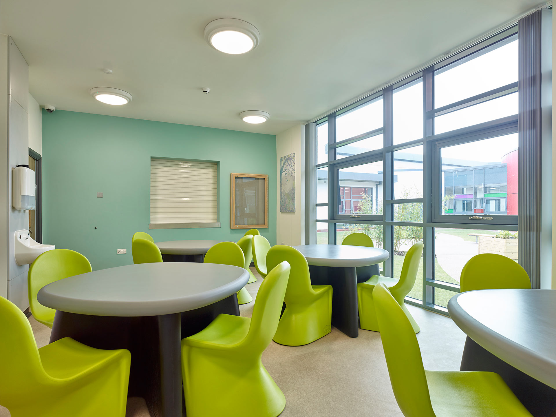 Anti ligature chairs in classroom at Ancora House