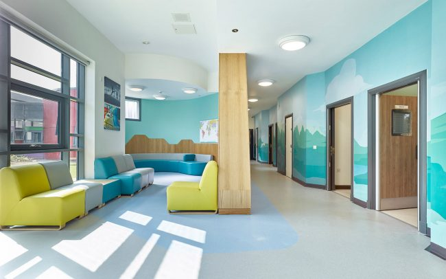 calming wall graphics for mental health unit