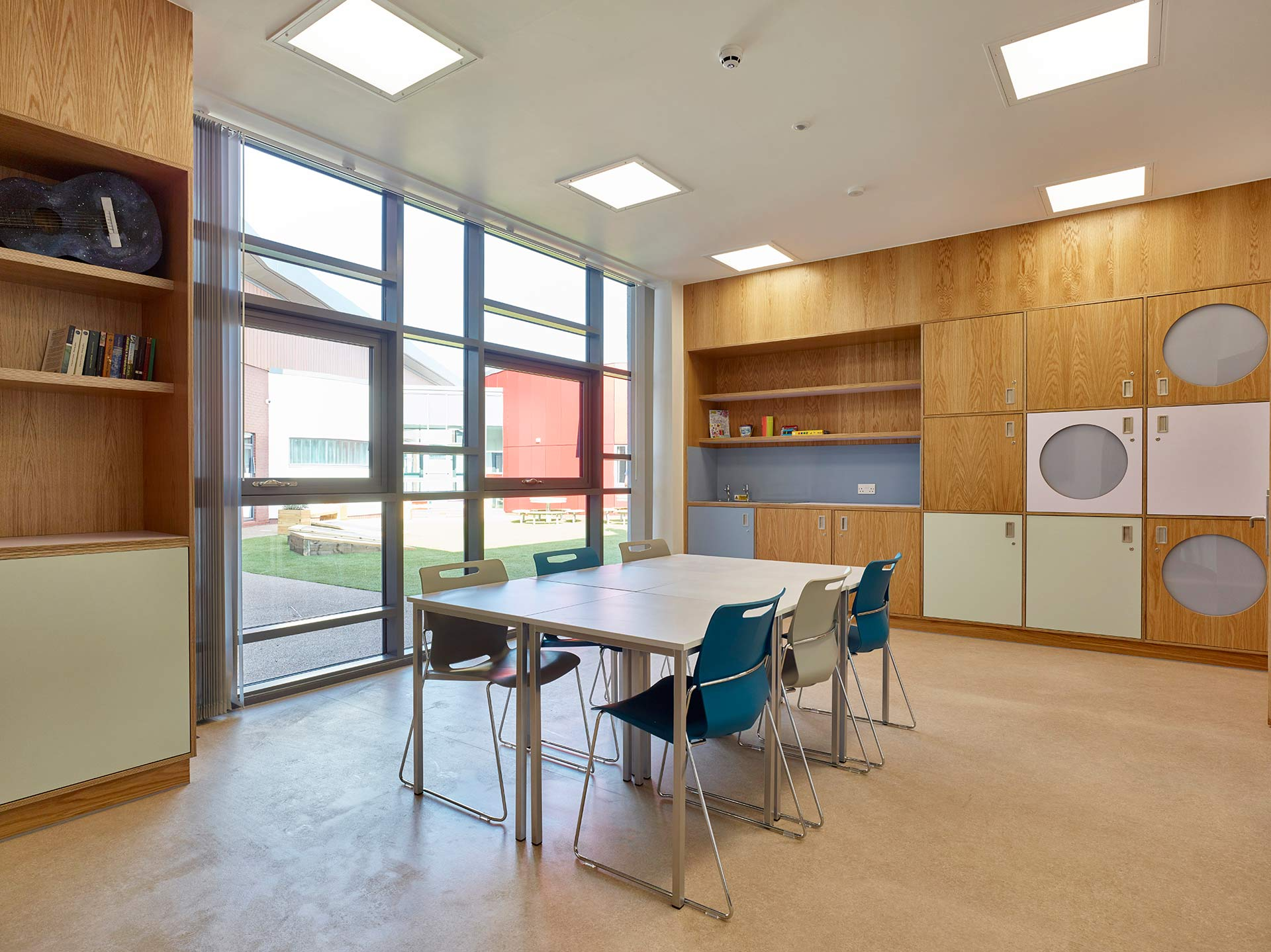 bespoke furniture designed by Boex for the education room
