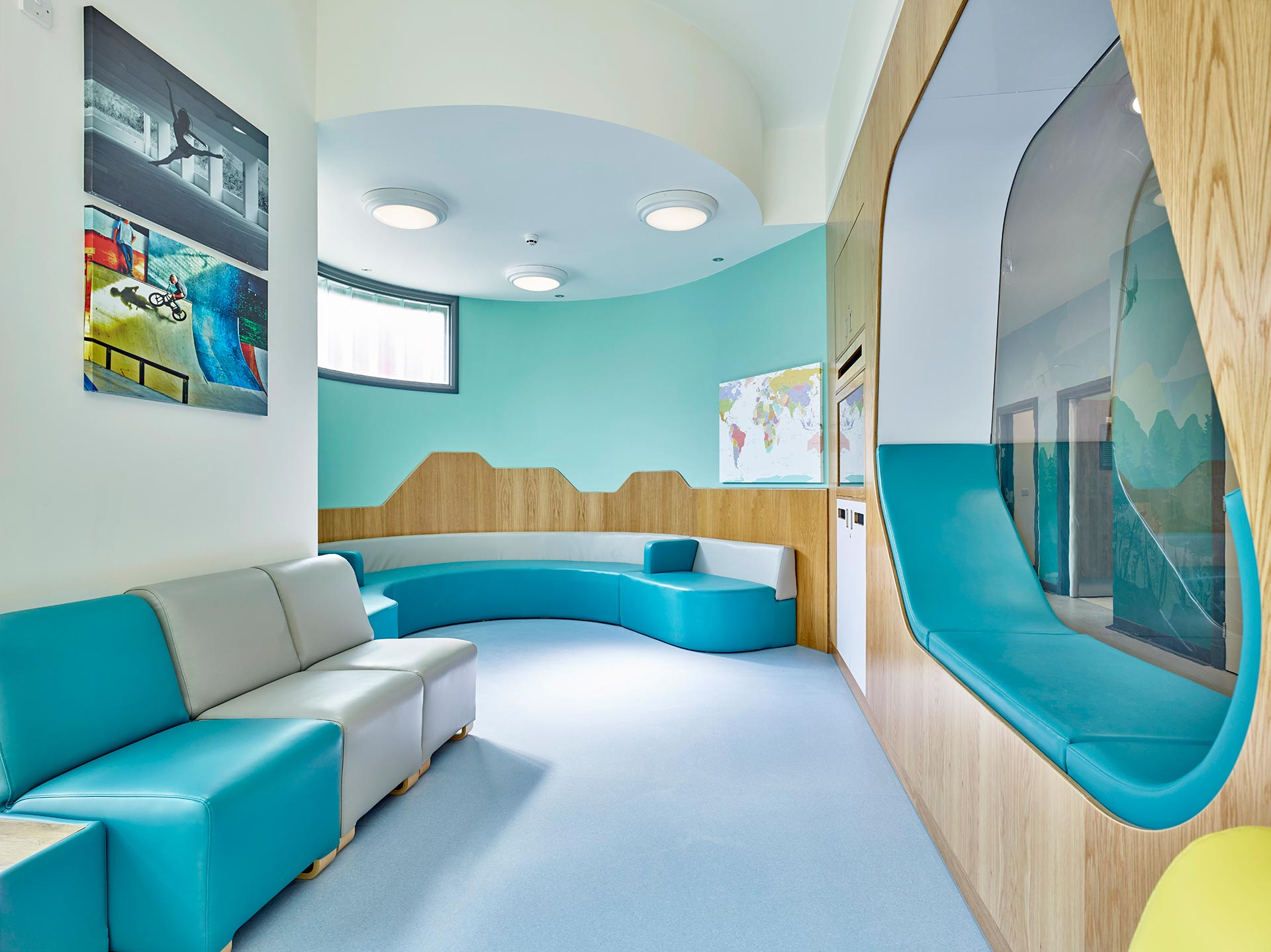 Anti ligature snug provides safe seating area for patients suffering mental health issues