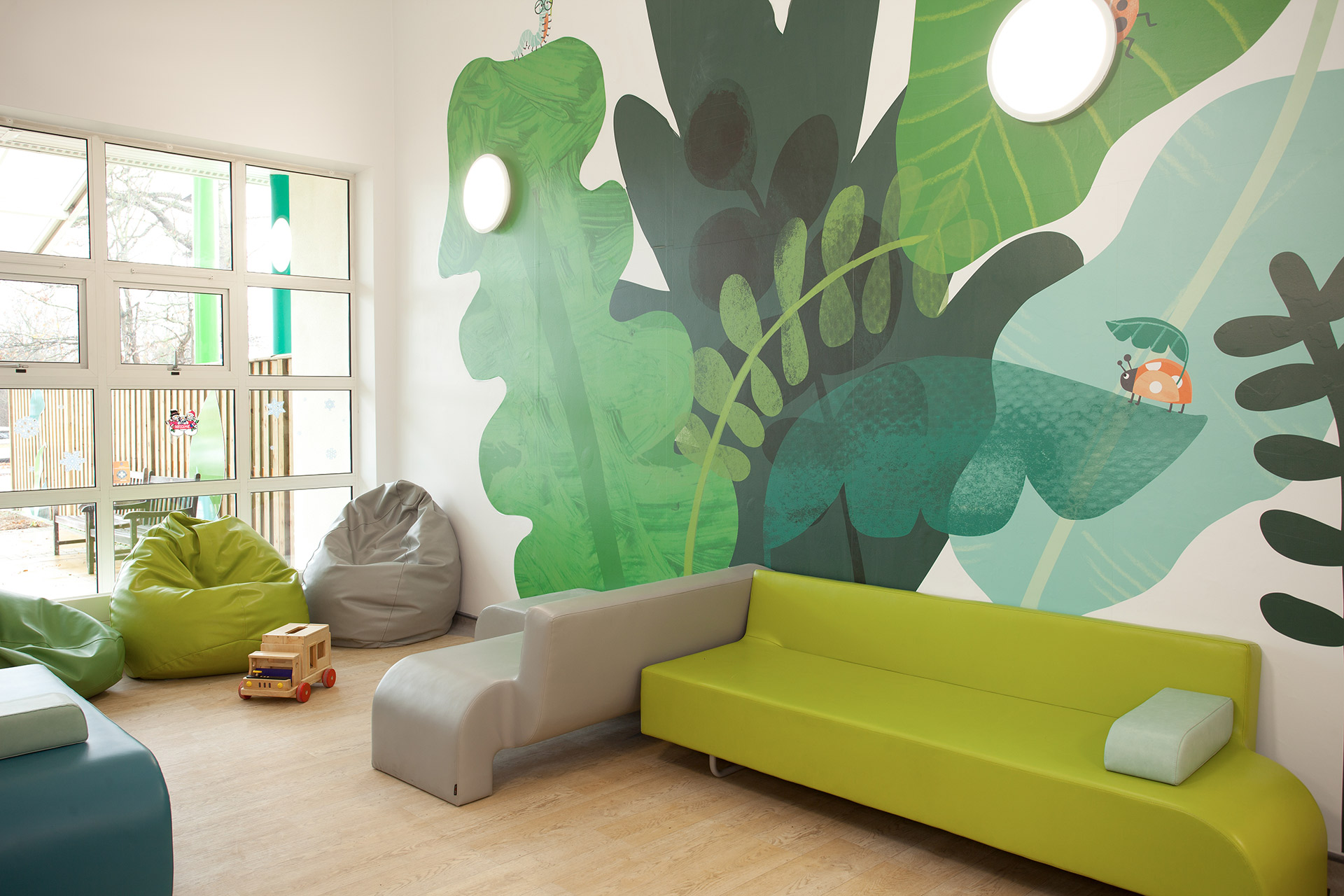 wall graphics designed by Boex in collaboration with Rose Darling Design