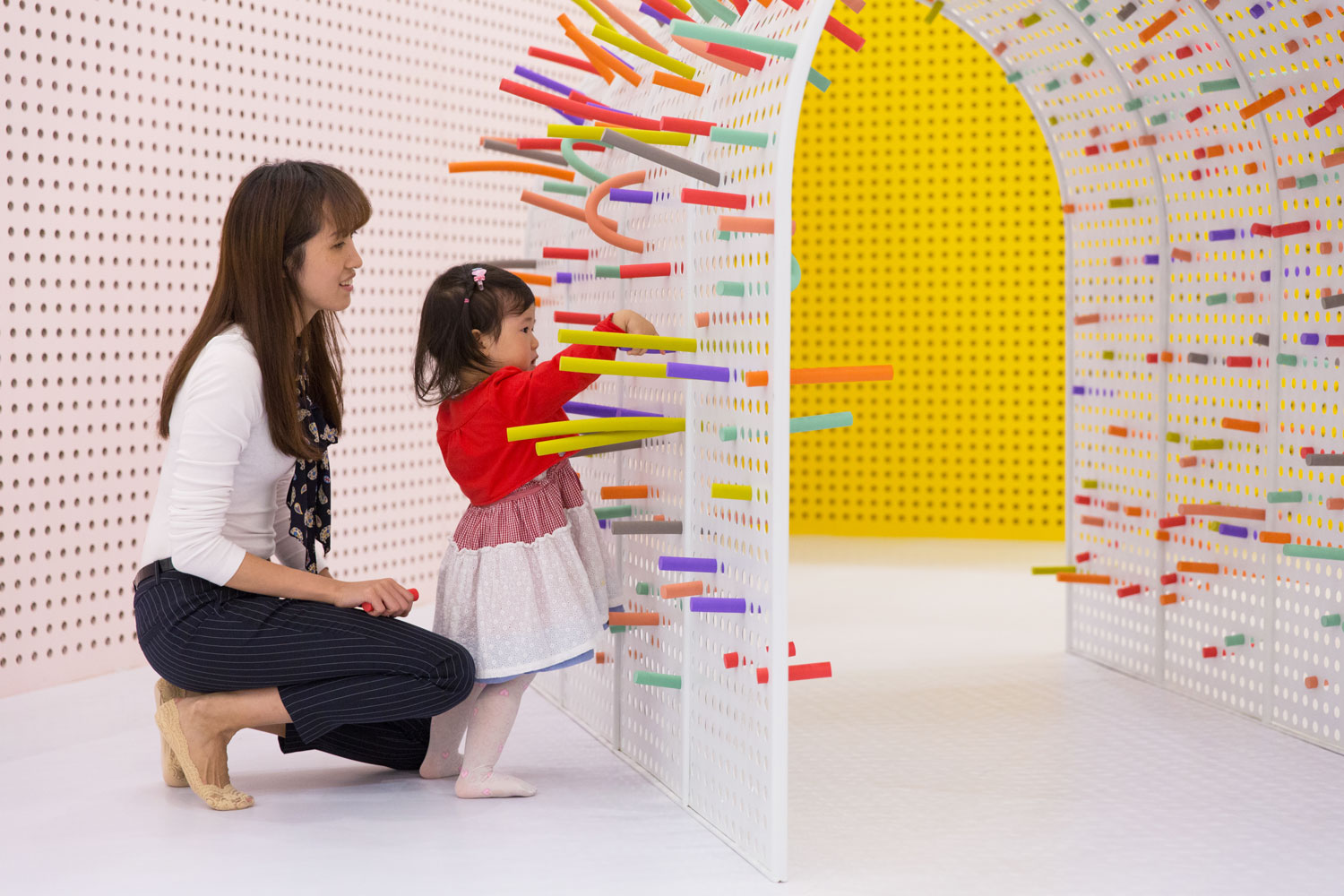 children's colourful play space